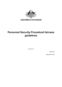 What is procedural fairness? - Protective Security Policy Framework