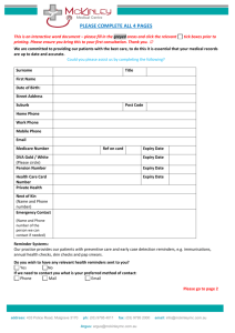 New Patient Information Sheet & consent form combined