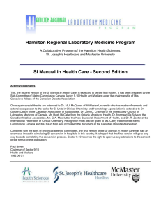 Hamilton Regional Laboratory Medicine Program A Collaborative