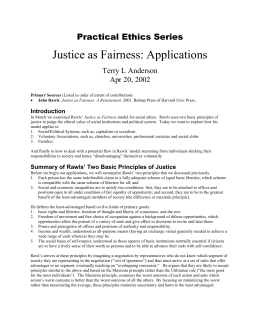 John rawls justice as fairness essay