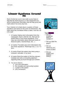 Linear system culminating