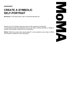 """Create a Symbolic Self-Portrait"" Worksheet ()"