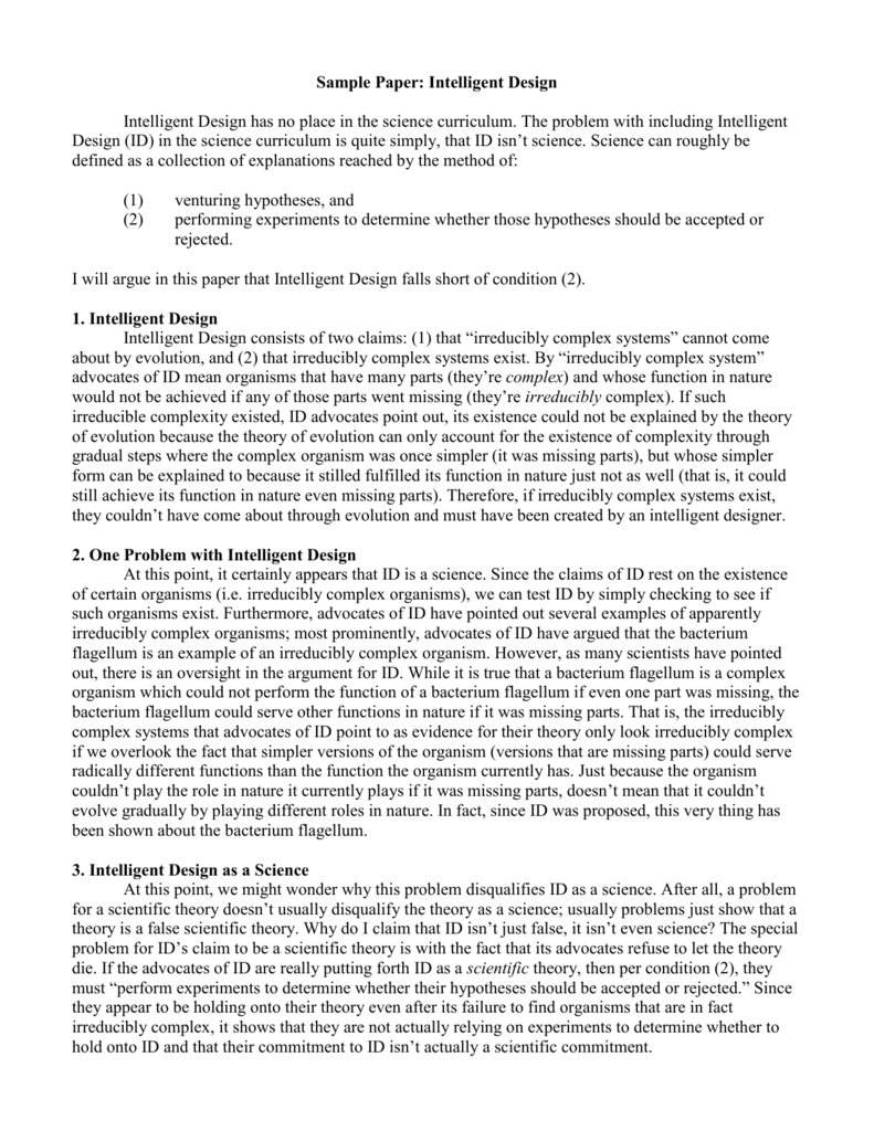 a41a88f445bbc0 Sample Paper: Intelligent Design