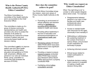 Ethics Committee Brochure - Pictou County Health Authority
