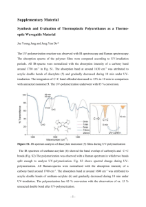 Supplementary Material Synthesis and Evaluation of Thermoplastic