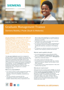 Graduate Management Trainee