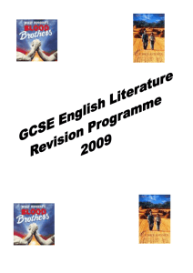 English Literature Revision programme