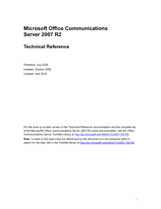 Office Communications Server 2007 R2