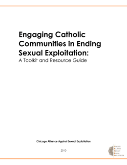 Engaging Christian Communities in Ending Sexual Exploitation: A