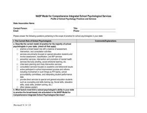 NASP Model for Comprehensive Integrated SP Services