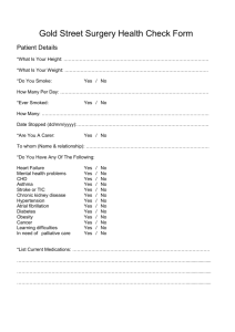 Gold Street Surgery Health Check Form