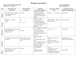 Daily Lesson Plan - Greater Latrobe School District