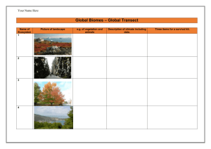 Global Ecosystems – Year 9 Geography