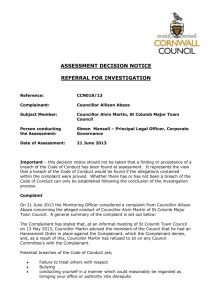 DECISION NOTICE - Cornwall Council