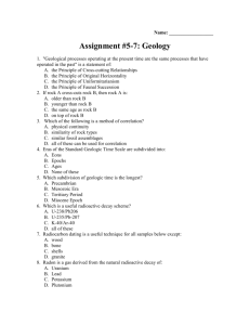 Assignment #2-4: Geology 110