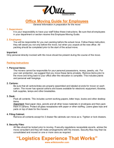 Office Moving Guide for Employees General Information in