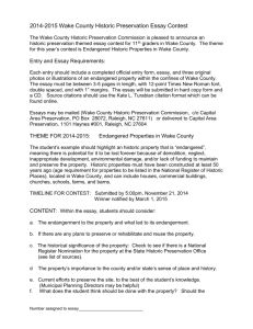 2014-2015 Wake County Historic Preservation Essay Contest The