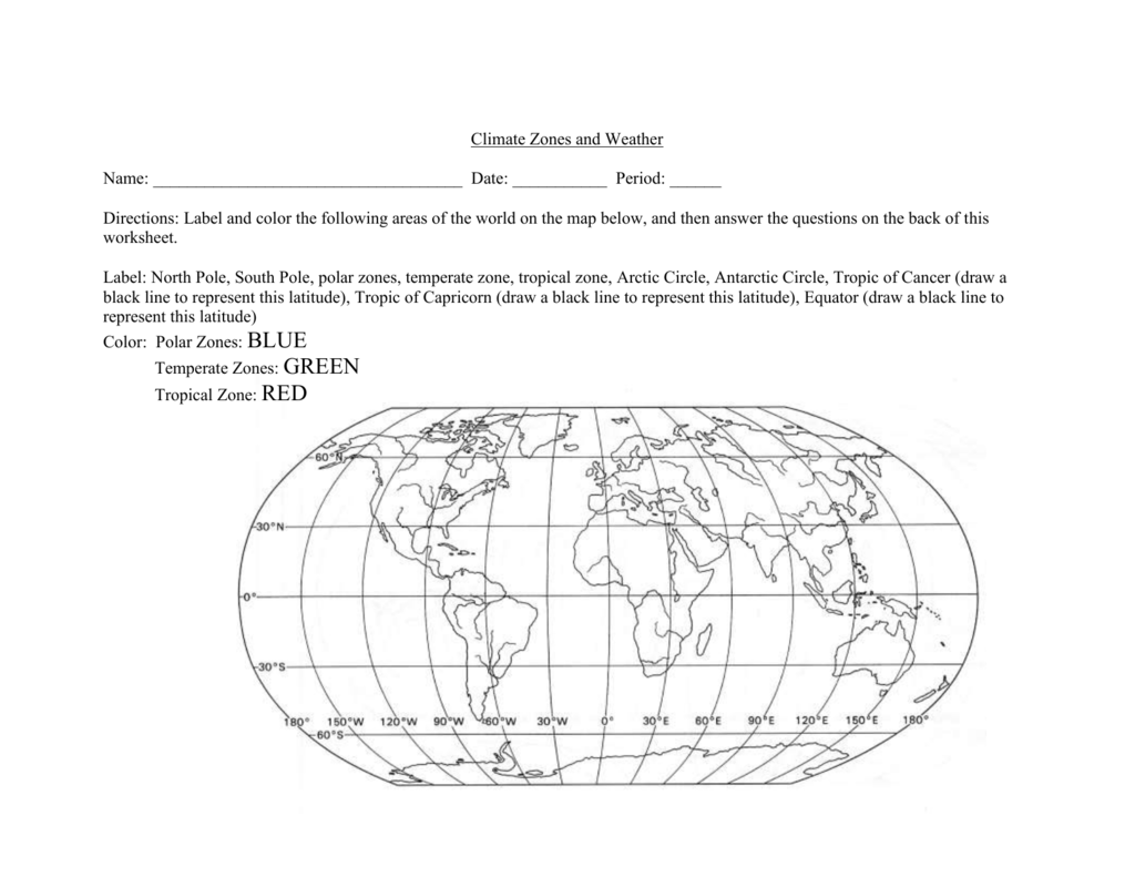Worksheets Climate Zones Worksheet climate zones and weather
