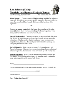Life Science (Cells)- Multiple Intelligences Project