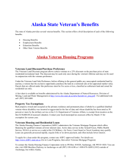 Veteran State Benefits – AK