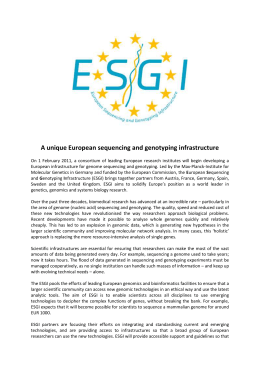 Kick-Off for a unique collaboration on European Sequencing and