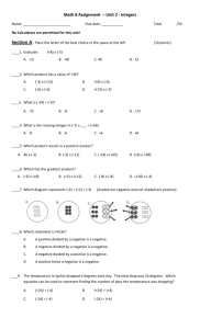 Math 8 Assignment – Unit 2