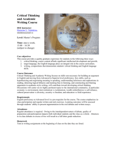 Russian 490R: Global Diplomacy and Debate, Winter 2007