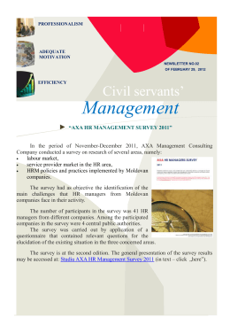 "Newsletter ""Civil Servants` Management"" nr. 2"