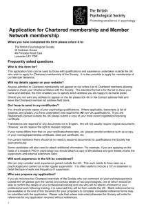 Chartered membership and/or general division application form