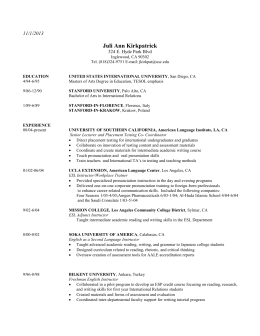 Curriculum Vitae Usc Dana And David Dornsife College Of Letters
