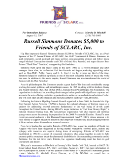 Russell Simmons Donates $5000 to Friends of SCLARC, Inc.