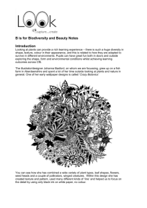 B is for Biodiversity and Beauty Notes from Sarah at DCA