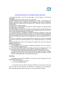 Technical requirements for card design information submission 1