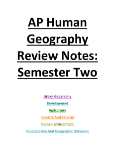 AP Human Geography Review Notes: Semester Two Urban