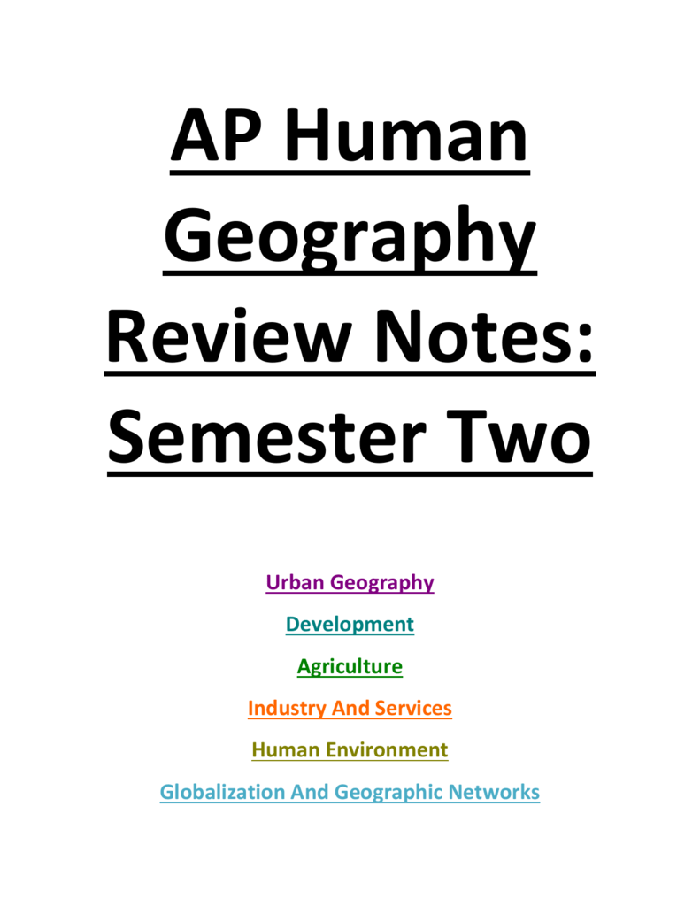 human geography vocab and notes
