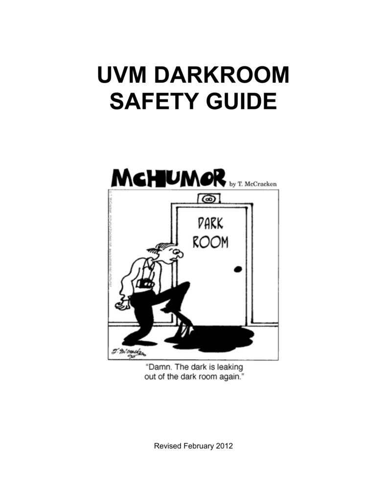 Darkroom Safety Guide  - University of Vermont