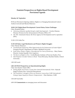 Women`s Empowerment UK Provisional Agenda Rights