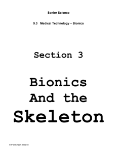Silicone and bionics