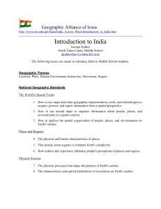 Introduction to India Lesson Plan for Middle School