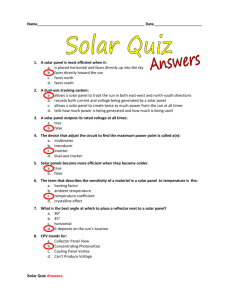 Solar Quiz Answers