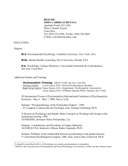 Curriculum Vitae - Boston University