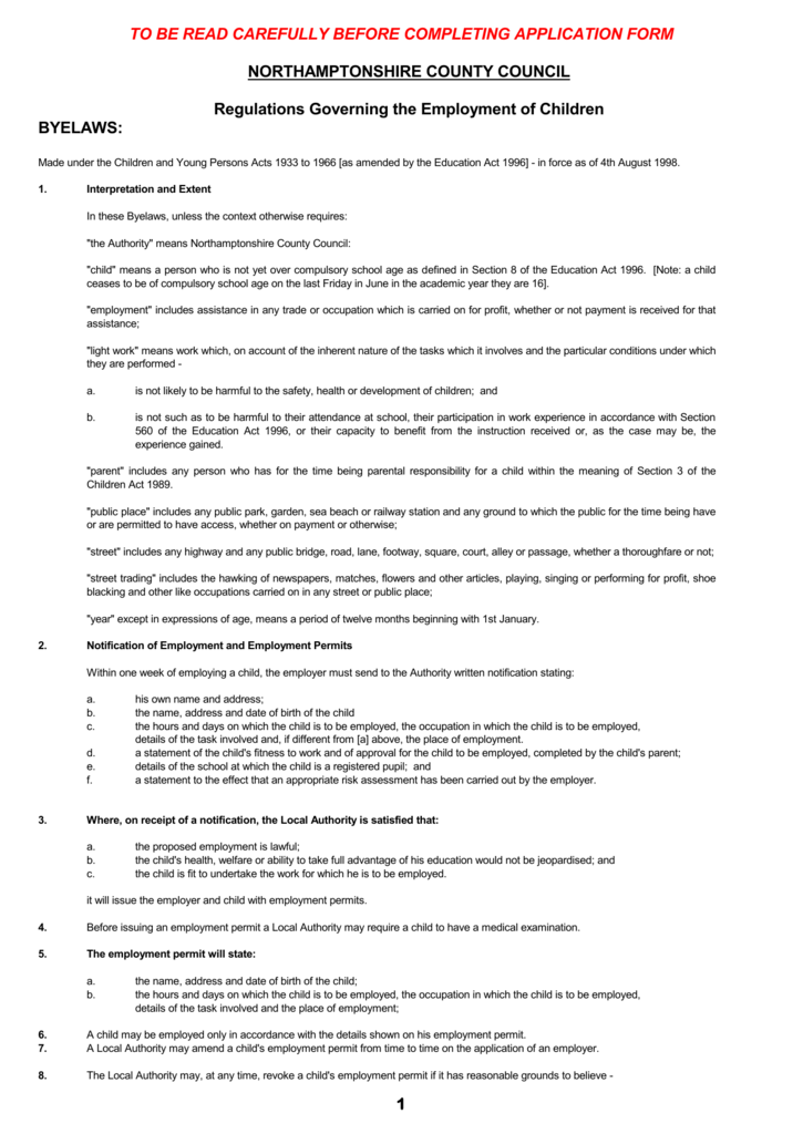 what does local authority mean on an application form