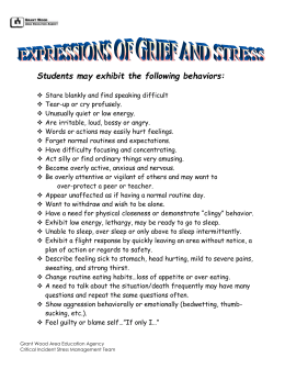 EXPRESSIONS OF GRIEF AND STRESS