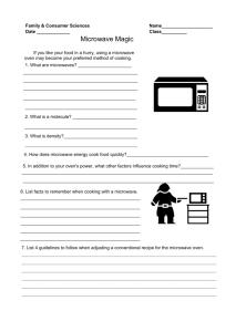 Microwave Magic Worksheet