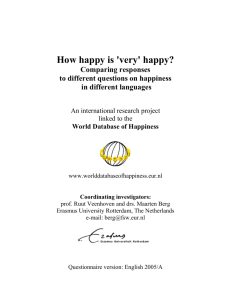 How happy is `very` happy