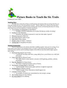 Picture Books to teach the Six Traits