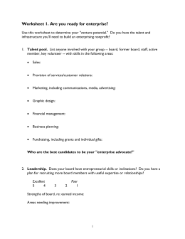 Worksheet 1 - Grassroots Fundraising, Inc.