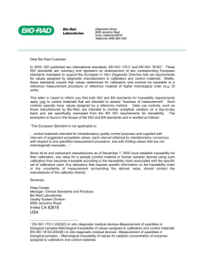 Bio-Rad Customer Traceability Letter