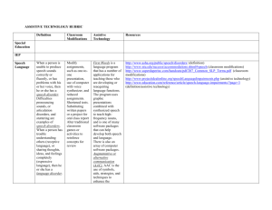 ASSISTIVE TECHNOLOGY RUBRIC