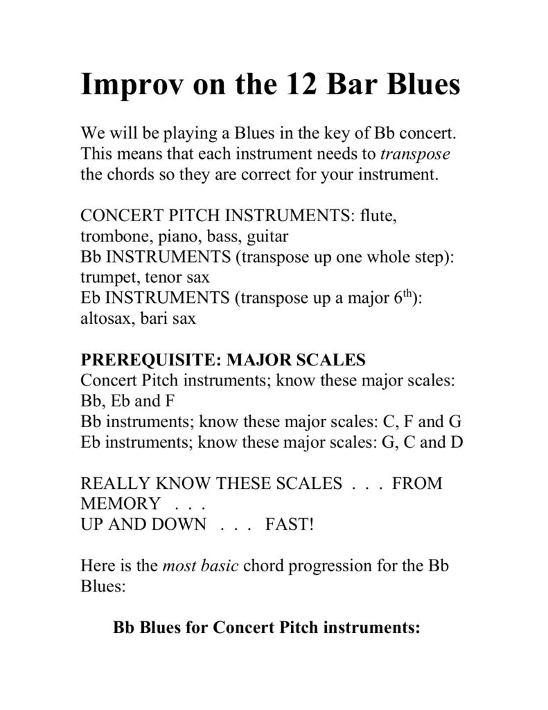 Bb Blues Improv